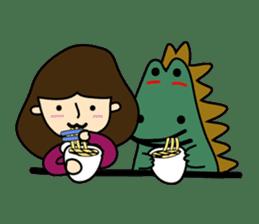 TINY & FRED the dinosaur sticker #5017391