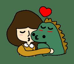 TINY & FRED the dinosaur sticker #5017392