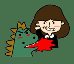 TINY & FRED the dinosaur sticker #5017393