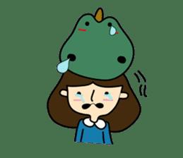 TINY & FRED the dinosaur sticker #5017396
