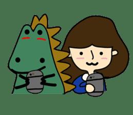 TINY & FRED the dinosaur sticker #5017400
