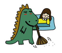 TINY & FRED the dinosaur sticker #5017401