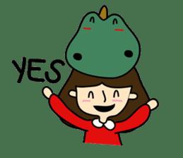 TINY & FRED the dinosaur sticker #5017404