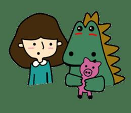 TINY & FRED the dinosaur sticker #5017407