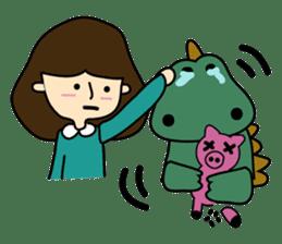 TINY & FRED the dinosaur sticker #5017408