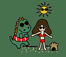 TINY & FRED the dinosaur sticker #5017411