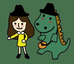TINY & FRED the dinosaur sticker #5017417
