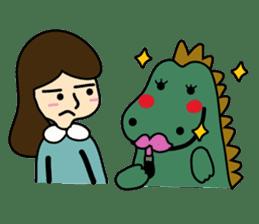 TINY & FRED the dinosaur sticker #5017418