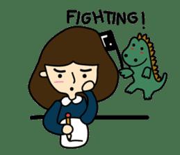 TINY & FRED the dinosaur sticker #5017419