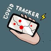 สติ๊กเกอร์ไลน์ Covidtracker-5Lab