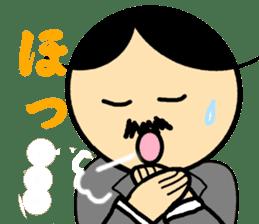 Small mustache butler sticker #5035817