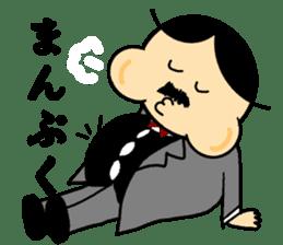 Small mustache butler sticker #5035821