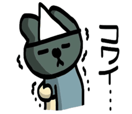 Fishy rabbit sticker #5036694