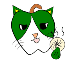 Plant-shaped Cats sticker #5039390