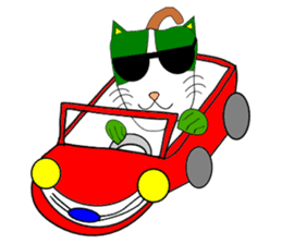 Plant-shaped Cats sticker #5039391