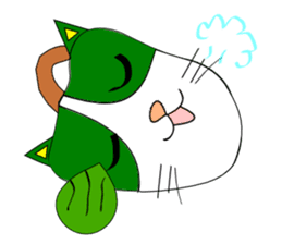 Plant-shaped Cats sticker #5039393