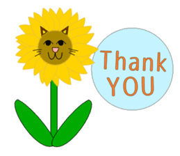 Plant-shaped Cats sticker #5039424
