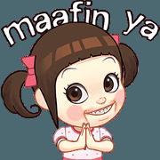 สติ๊กเกอร์ไลน์ Neneng Gesrek Ramadan Special: Alim Girl