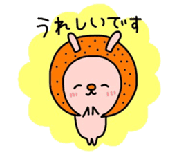Rabbit & oranges vol3 sticker #5046753