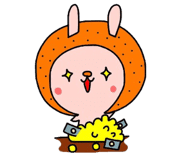 Rabbit & oranges vol3 sticker #5046772