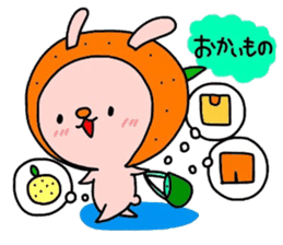 Rabbit & oranges vol3 sticker #5046780