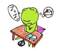 [A frog]gentleman`s daily life. sticker #5058741