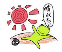 [A frog]gentleman`s daily life. sticker #5058746