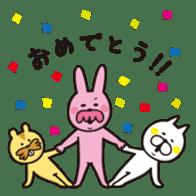A little eccentric cat and friends sticker #5060978