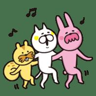 A little eccentric cat and friends sticker #5060986