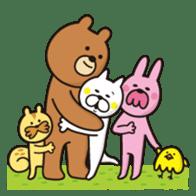 A little eccentric cat and friends sticker #5060989