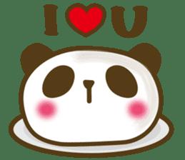 Cute panda cake sticker #5062430