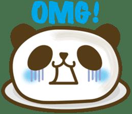 Cute panda cake sticker #5062431