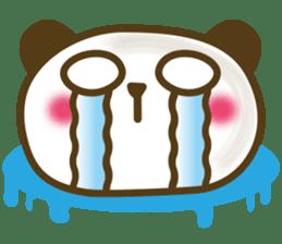 Cute panda cake sticker #5062438