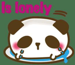 Cute panda cake sticker #5062439