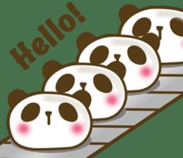 Cute panda cake sticker #5062440