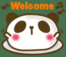 Cute panda cake sticker #5062443