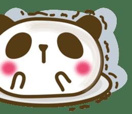 Cute panda cake sticker #5062444