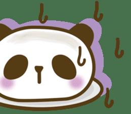 Cute panda cake sticker #5062445