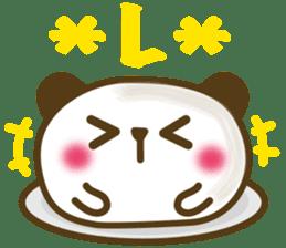 Cute panda cake sticker #5062446