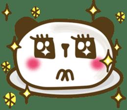 Cute panda cake sticker #5062447