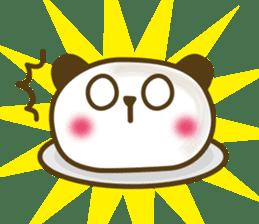 Cute panda cake sticker #5062449