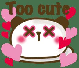 Cute panda cake sticker #5062450