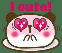 Cute panda cake sticker #5062451