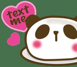 Cute panda cake sticker #5062453