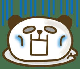 Cute panda cake sticker #5062456