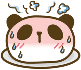 Cute panda cake sticker #5062457