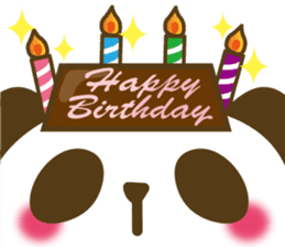 Cute panda cake sticker #5062458