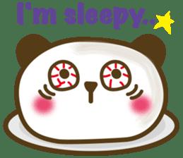 Cute panda cake sticker #5062460