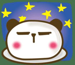 Cute panda cake sticker #5062462
