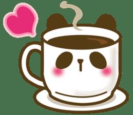 Cute panda cake sticker #5062464